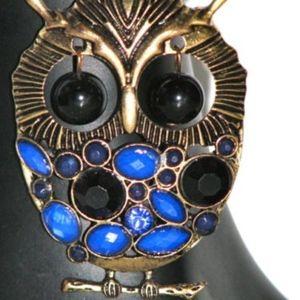 Jewelry - NEW Dark Brass Tone Necklace Owl Pendant w/ Chain